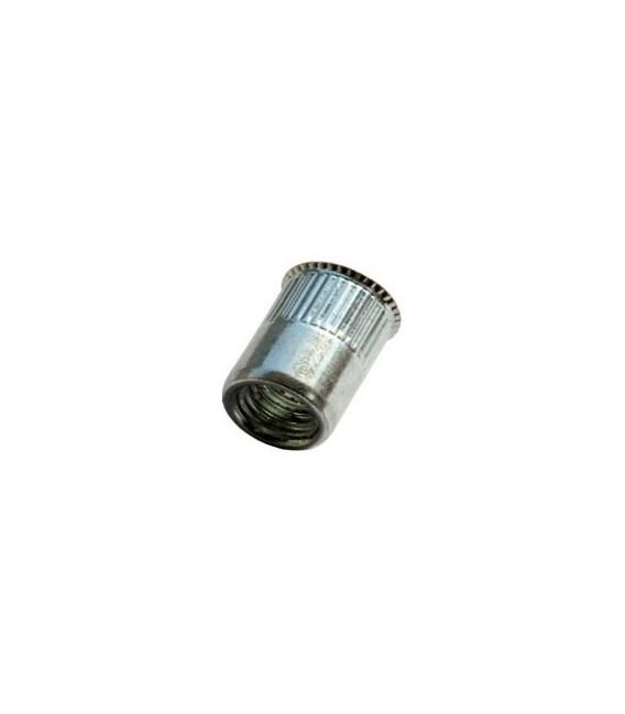 Заклепка M6*14 мм из алюминия с внутренней резьбой, уменьшенный бортик, с насечкой