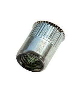 Заклепка M8*15,5 мм из нержавеющей стали с внутренней резьбой, уменьшенный бортик, с насечкой