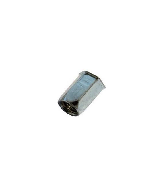Заклепка M10*22 мм из стали с внутренней резьбой, уменьшенный бортик, шестигранная