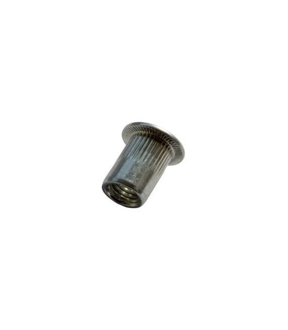 Заклепка M4*11,5 мм из нержавеющей стали с внутренней резьбой, цилиндрический бортик, с насечкой