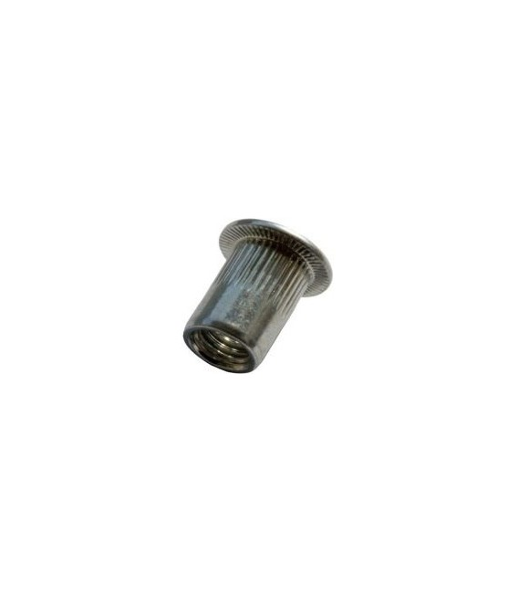 Заклепка M5*15 мм из нержавеющей стали с внутренней резьбой, цилиндрический бортик, с насечкой