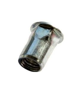 Заклепка M8*17,5 мм из стали с внутренней резьбой, цилиндрический бортик, полушестигранная