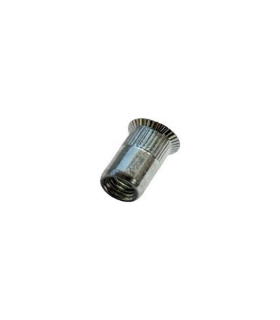 Заклепка M8*19 мм из нержавеющей стали с внутренней резьбой, потайной бортик, с насечкой
